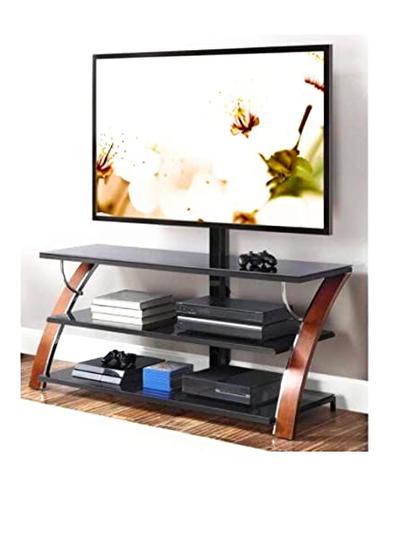 Amazon Com Whalen Payton Brown Cherry 3 In 1 Flat Panel Tv Stand