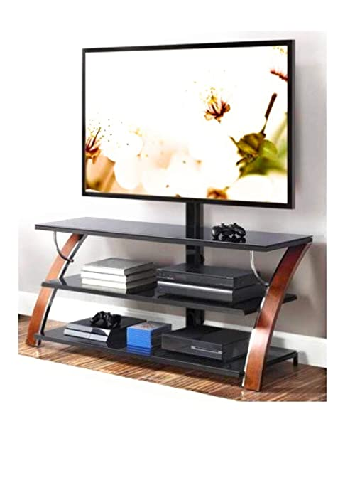check out eb3df 35efd Whalen Payton Brown Cherry 3-in-1 Flat Panel TV Stand for TVs up to 65