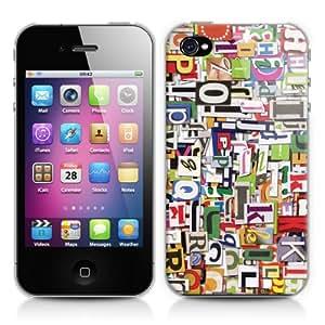 Caso duro para Apple iPhone 4/4S, diseño: recortes de revistas