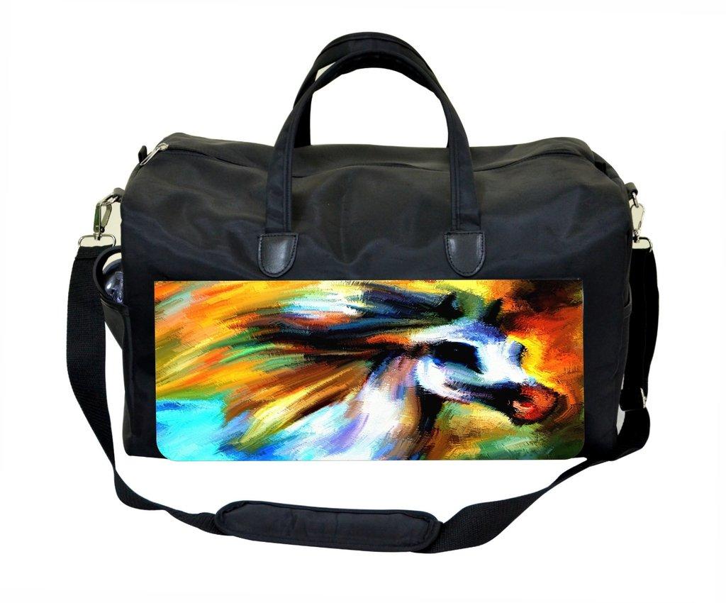 Horse Profile Painting Weekender//Overnighter Bag