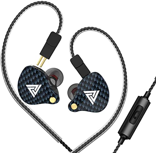 CIGOO QKZ VK4 3.5mm Wired Headphones in-Ear Sports Headset Moving Coil Music Earphones in-line Control with Mic Detachable Replaced Cable