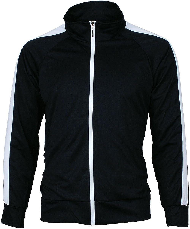 Angel Cola Mens Retro Stripes Full Zip-up Track Top Jacket KH3016