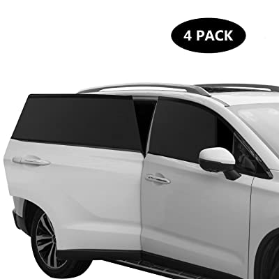 Car Window Shades for Side Window, Breathable Mesh Sun Shield with UV Rays Protection Mosquito Prevention Fit for Cars, Trucks and SUVs: Automotive