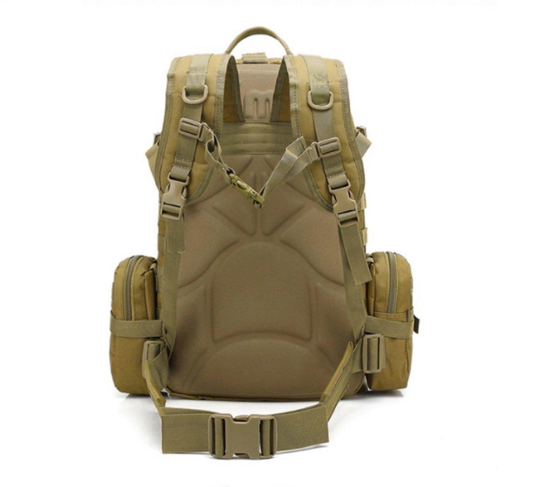 KA HUI DA 3D Climbing Bag Shoulder Men and Women Outdoor Travel Backpack Fashion Multi-Function Travel Bag Large Capacity Backpack Khaki