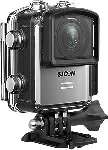 SJCAM M20 4K Action Camera WiFi 16MP Sony Sensor Underwater Waterproof Camera Remote Control Gyro Stabilization 160 Degree Wide FOV Angle Sport Camera + Mounting Accessories Kit (Silver)