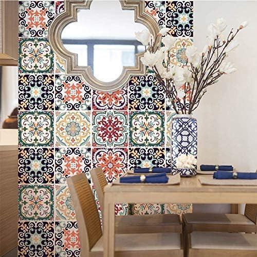 6Pcs//Set 3D Mosaic Self-adhesive Oil-proof Wall Sticker Home Kitchen Fast