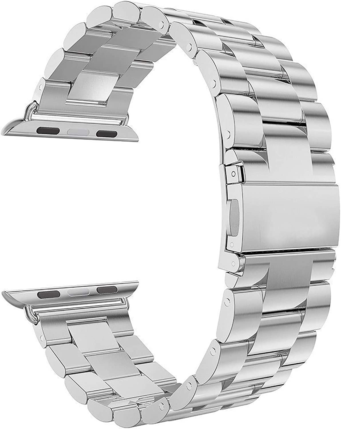 Speidel 38mm/40mm, 42mm/44mm Stainless Steel Linked Watchband for Smart Watch in Silver and Black