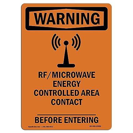 Letrero de advertencia de Osha - Rf microondas zona controlada de ...