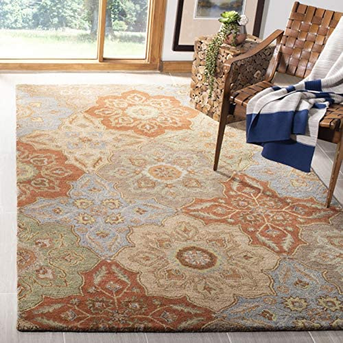 Safavieh Heritage Collection HG273A Handmade Traditional Wool Area Rug