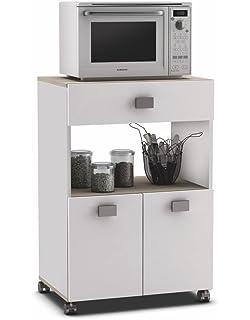 Habitdesign 0L9910O - Mueble auxiliar para microondas, mesa ...
