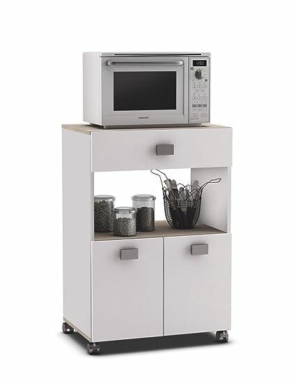 Armarios auxiliares de cocina despensero alto puerta x x cm muebles auxiliares de cocina - Mueble microondas carrefour ...
