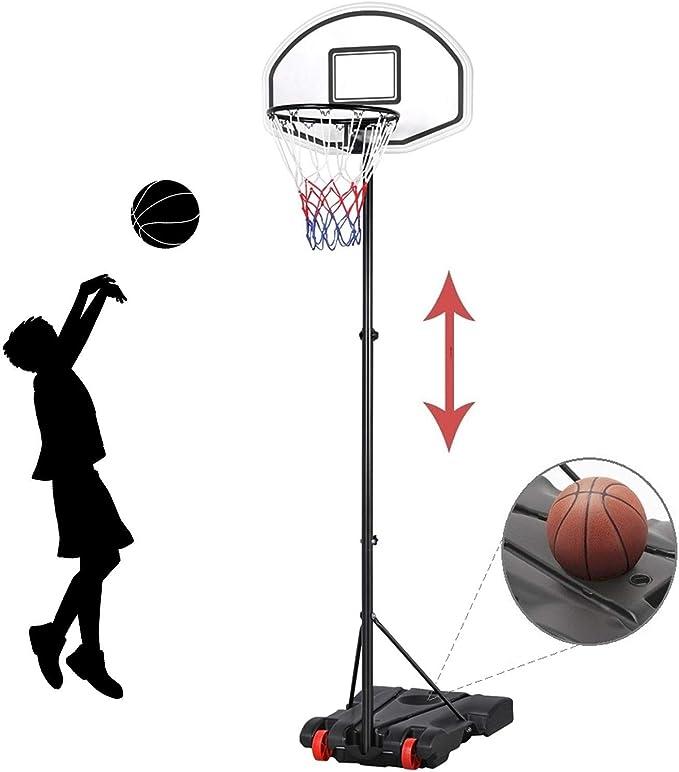 Details about  /1.7-5.7Ft Basketball Hoop Stands Height Adjustable Kids Basketball Goals Toy US