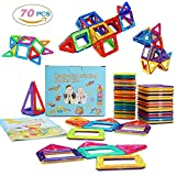 MarlaMall Magnetic Building Blocks Magnet Tiles Set Educational Stacking Toys for Kids Over 3 Years Old (70 pcs)