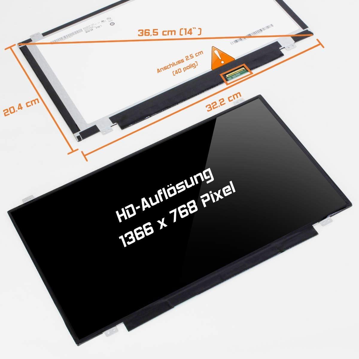 Laptiptop 14,0 LED Display Screen Glossy Ersatz f/ür Sony Vaio VPCCA3S1E PCG-61714M HD Bildschirm Panel