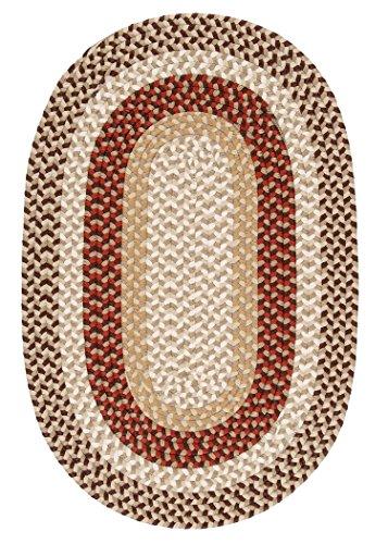 Burmingham Polypropylene Braided Rug, 3-Feet by 5-Feet, Brick - Burmingham Rug Brick Brown