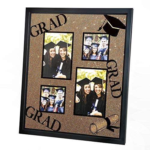 Fashioncraft Gold Glitter Graduation Collage Frame, 2.5