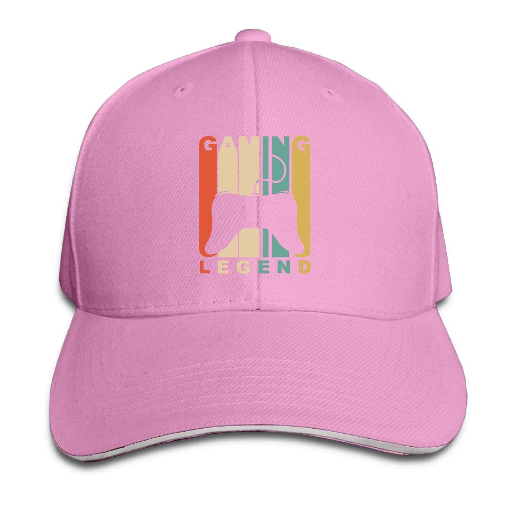 JustQbob1 Gaming Legend Outdoor Snapback Sandwich Cap Adjustable Baseball Hat Dad Hat