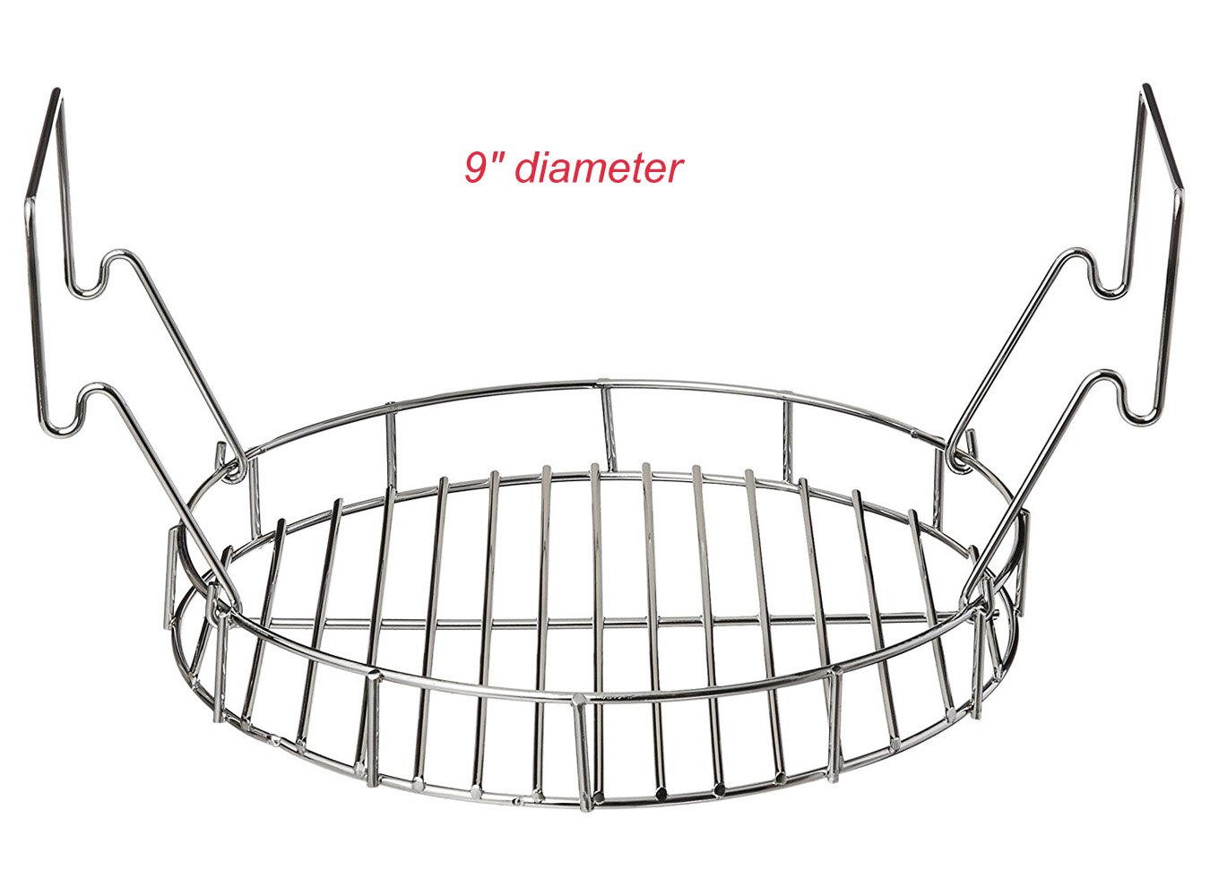 BBQ funland 9'' Diameter Durable chrome Bunk Bed Basket for The Big Easy - Perfect for cooking two chickens at once