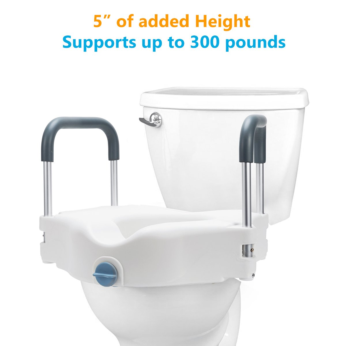 Oasisspace Medical Raised Toilet Seat Portable Secure