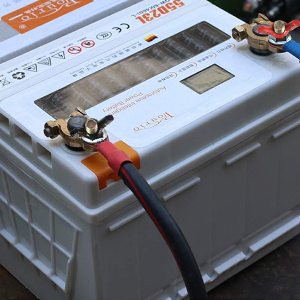 1 paio HO2NLE Terminali Morsetti di Batteria 12v 24V per Auto Terminale Batteria Connettori Batteria Coppia Morsetti Rapidi Batteria 2 colori