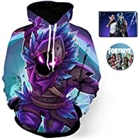 FORTNITER Digital 3D-gedruckte Unisex-Hoodies. Pullover mit Kapuze und Taschen