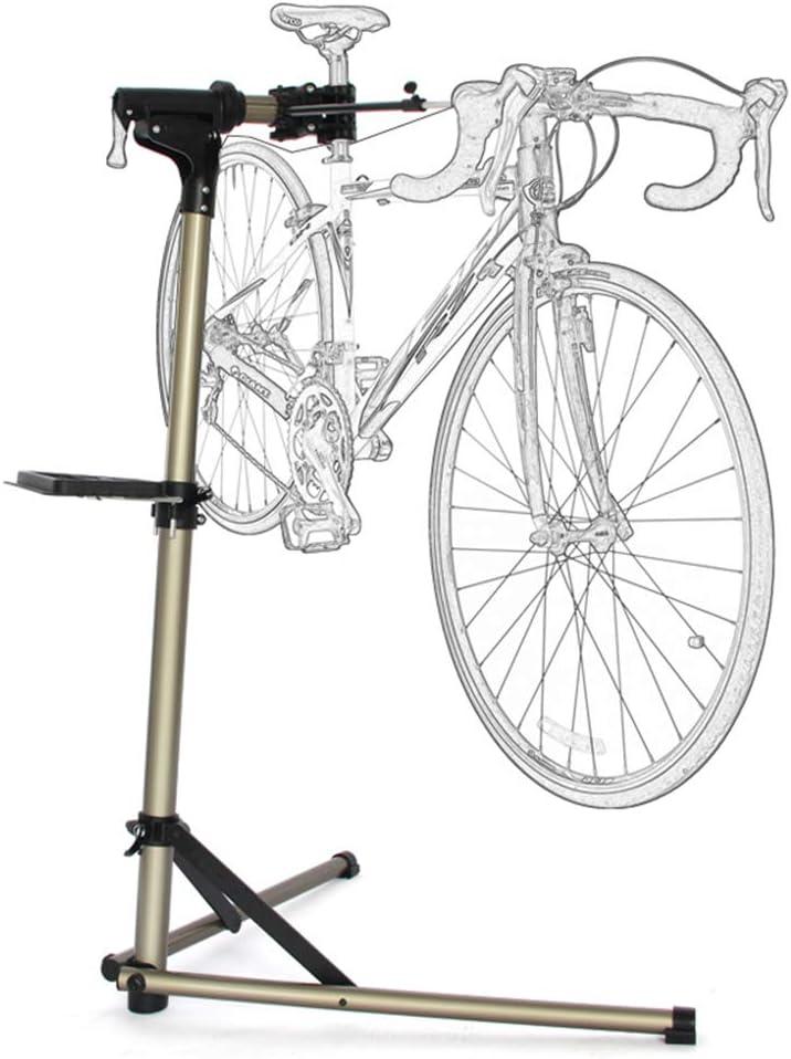 Estación de trabajo de soporte para reparación bicicletas - Mesa trabajo mantenimiento bicicleta aleación aluminio altura ajustable - Bandeja herramientas liviana - para taller mecánico doméstico: Amazon.es: Hogar