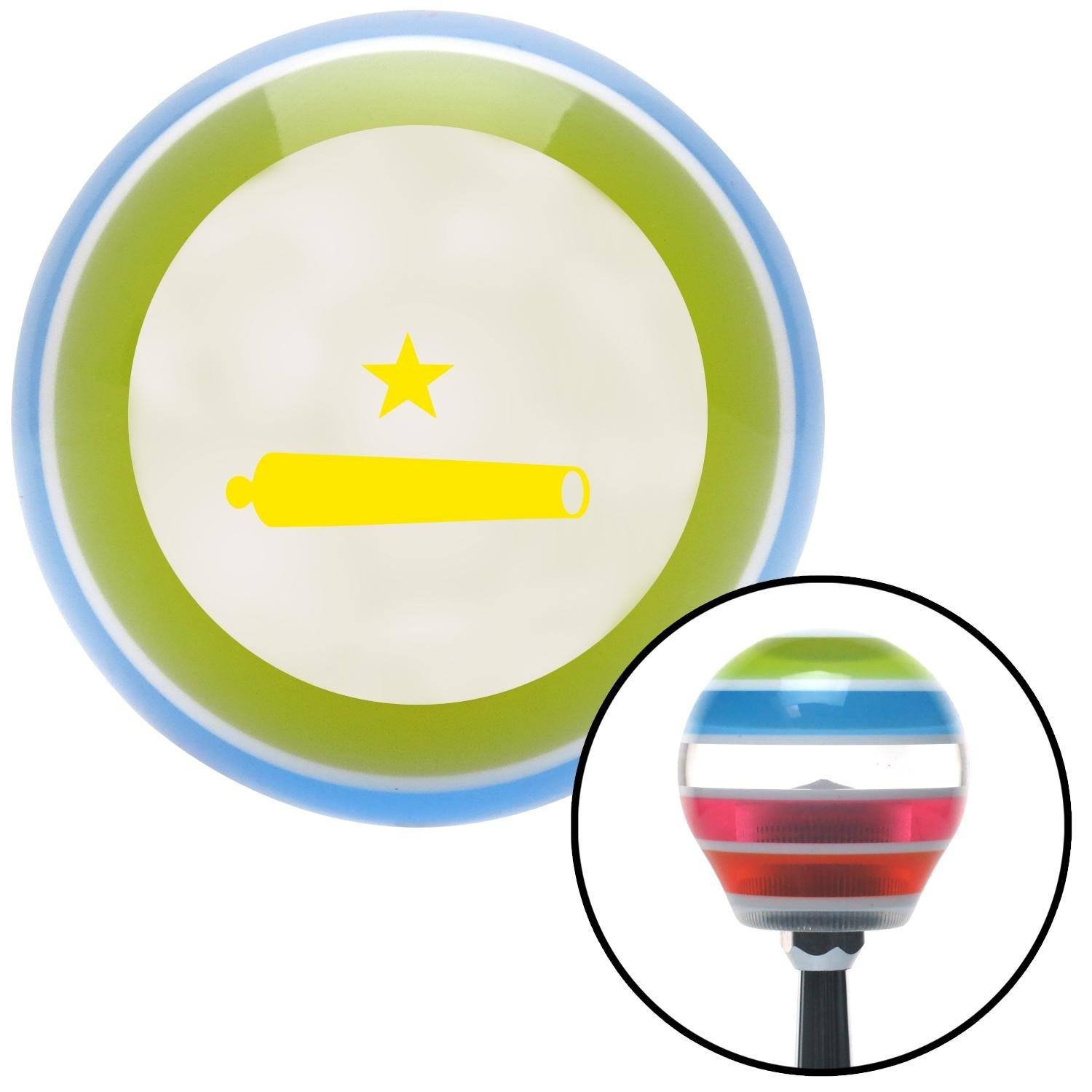 American Shifter 134718 Stripe Shift Knob with M16 x 1.5 Insert Yellow Come and Take It