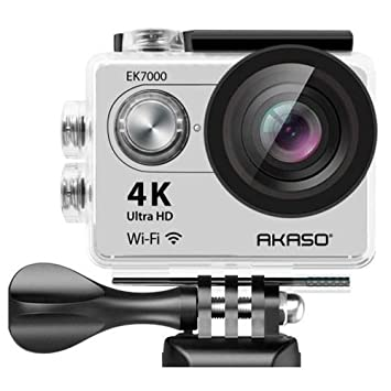 AKASO EK7000SL Wi-Fi Ultra HD Waterproof Sports Action Camera (Sage/Silver) Action Cameras at amazon