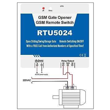 Senders GSM Gate Opener,GSM Remote Switch,Door Opener with GSM Dial Control  (RTU5024)
