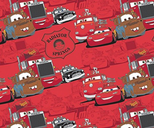 Disney Cars Radiator Springs in Ruby Fabric Sold by the (Lightning Mcqueen Fabric)