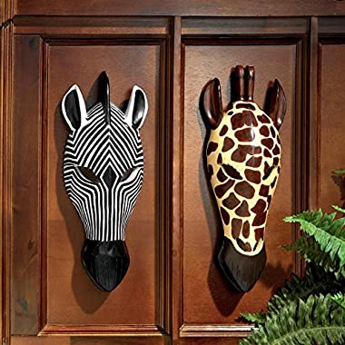 Design Toscano Tribal-Style Animal Masks Set of Two