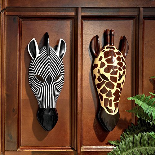 Design Toscano Tribal-Style Animal Masks Set of Two by Design Toscano