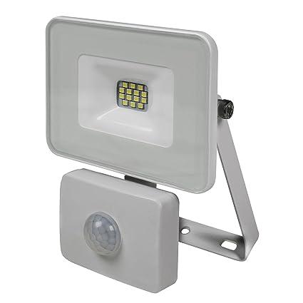 Valex 1153111.0 Proyector LED con sensor de movimiento y sensor crepuscular, 10 W, 230