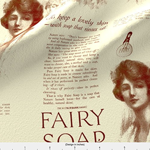 Spoonflower Cosmetics Fabric 1918 Fairy Soap Advertisement by Edsel2084 Printed on Organic Cotton Sateen Ultra Fabric by the Yard