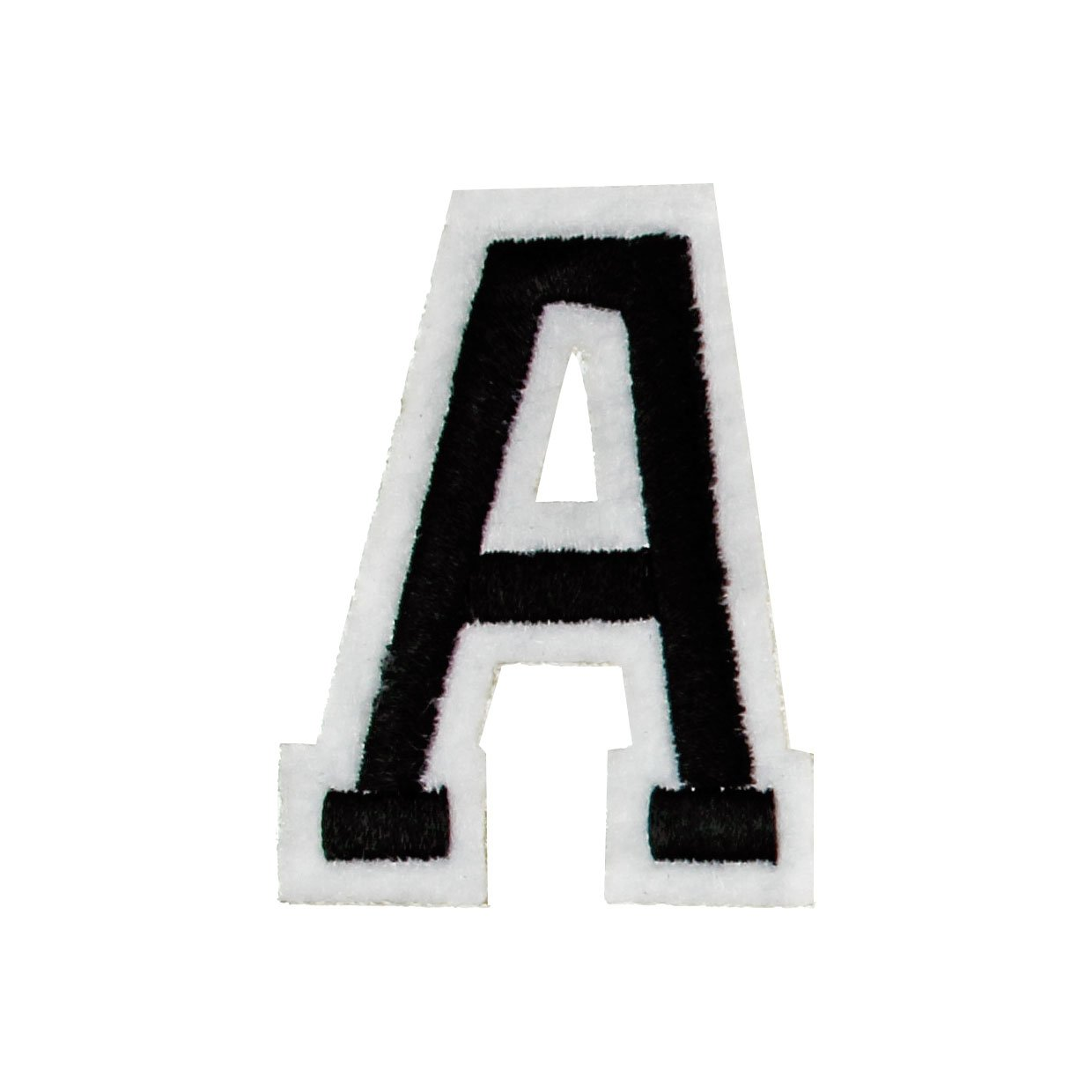 RECHERE letter Alphabet Uppercase Embroidered Iron On Patch Applique Black (S) p-zm-001bks