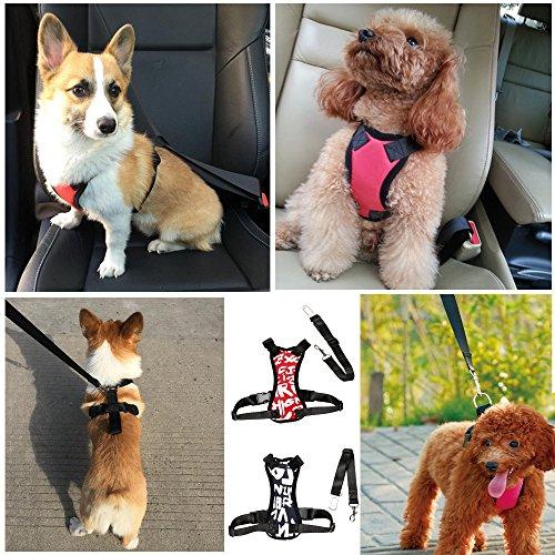HANCIN VIDASOFT Dog Seat Belt Harness for Cars, Medium Dog Harness Vest with Dog Seat Belt for Car