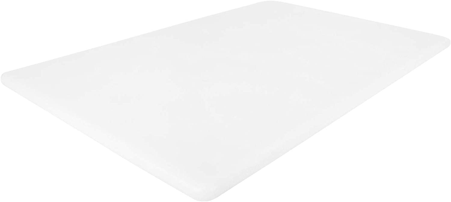 Commercial Plastic Cutting Board, NSF, 18 x 12 x 0.5 Inch, White BPA Free, Dishwasher Safe