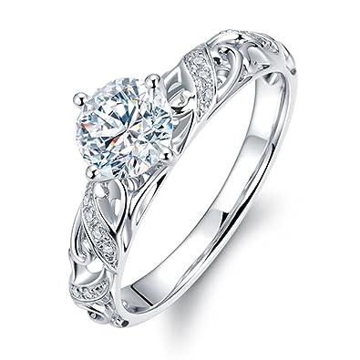 Echt Hochzeit Diamant Weissgold 14k 585 Solide Vorschlagen