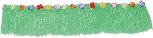 Hawaiian Table Skirt, Colorful Flower Hawaiian Luau Tropical Party Table Grass Skirt Summer Beach Parties Decoration Tropical Theme Decor 108.7
