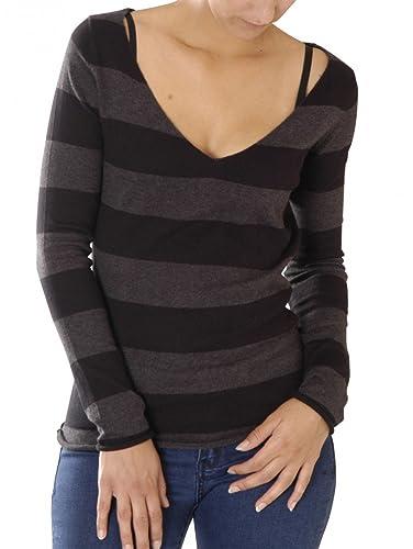 Blaumax Damen Pullover Fedder Stripe: : Bekleidung
