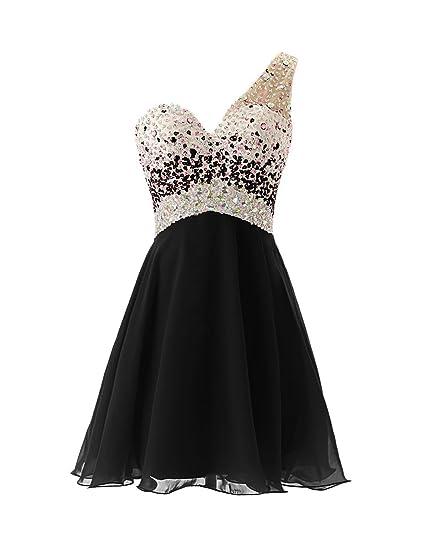 Fanciest Womens 2016 Short Homecoming Dresses Black Prom Dresses Long Formal Gowns UK4