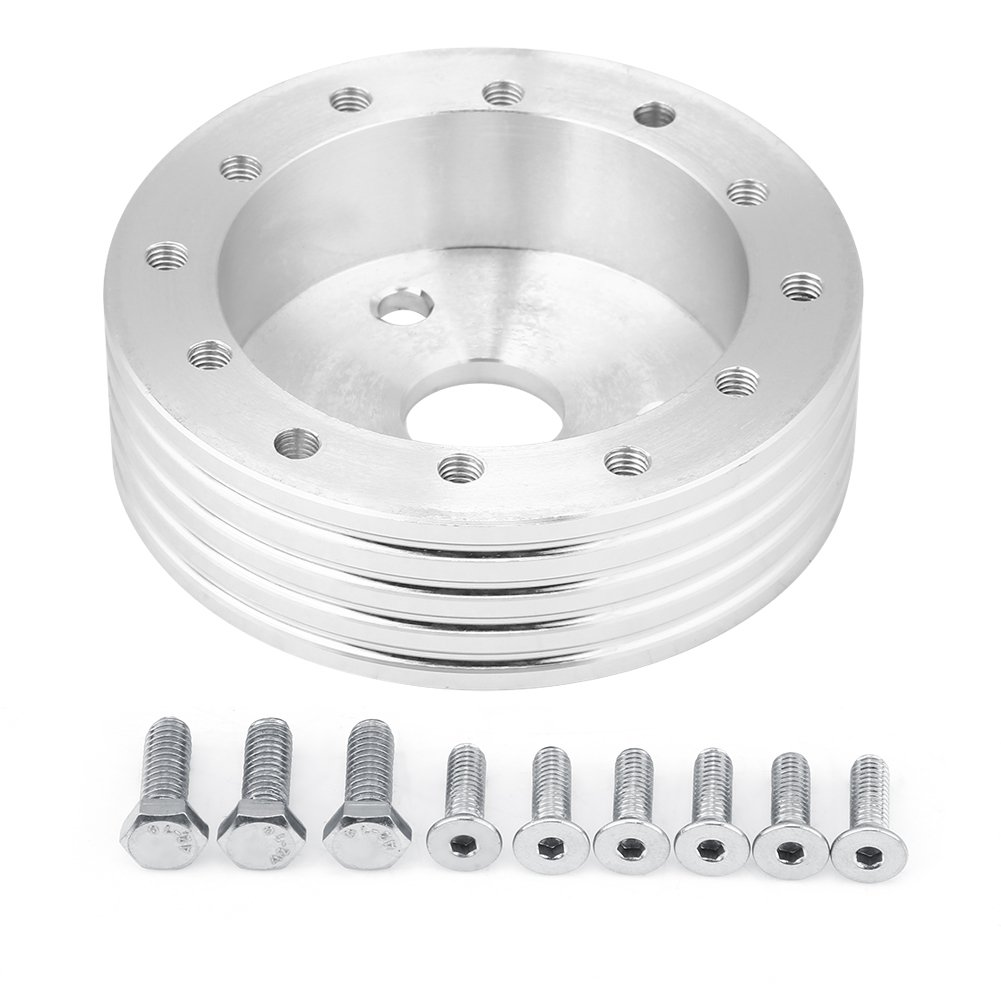 Aluminum 0.5//1 Inch 6 Hole Car Steering Wheel Hub Adapter Boss Kit 1 inch- Black Keenso Steering Wheel Adapter Hub