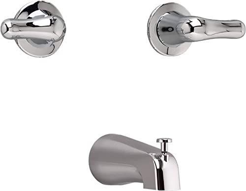 American Standard 3275505.002 Colony Soft Wall-Mounted Tub Filler with Lever Handles, Polished Chrome