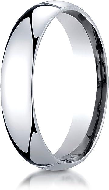 Full /& Half Sizes 10k White Gold 5mm Standard Flat Comfort Fit Wedding Ring Band Size 4-14