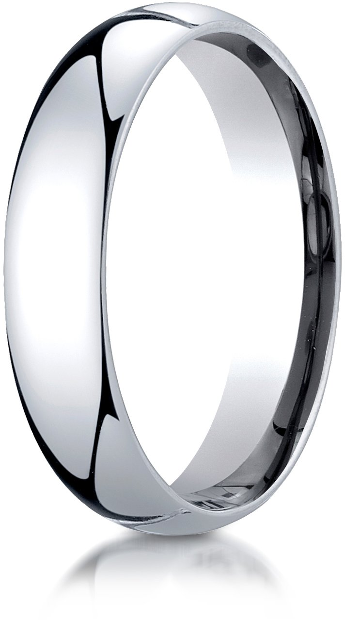 Benchmark Platinum 5mm Slightly Domed Super Light Comfort-Fit Wedding Band Ring, Size 11.25
