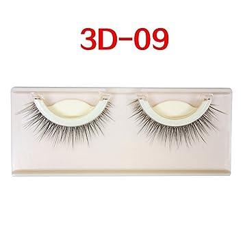 1250e194eb3 Amazon.com : 3D Mink False Eyelashes Extension Reusable Self-Adhesive  Natural Curly Eyelashes Self Adhesive Eye lashes Makeup Tools, 3d 09 :  Beauty