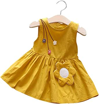 COODIO Girls Fashion Sleeveless Princess Cute Dress-Clothes