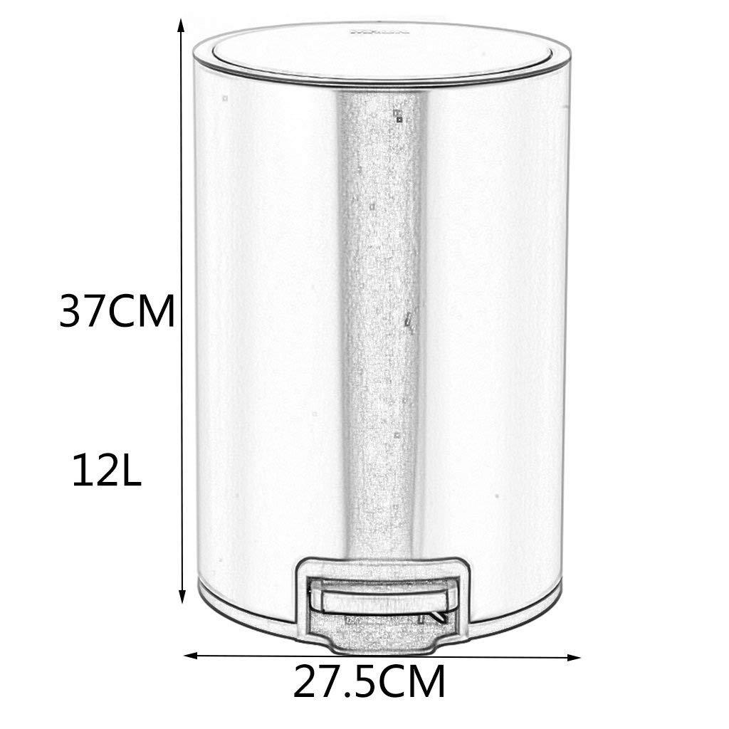 Amazon.com: PCAL Cubo de basura Redondo de Acero inoxidable ...
