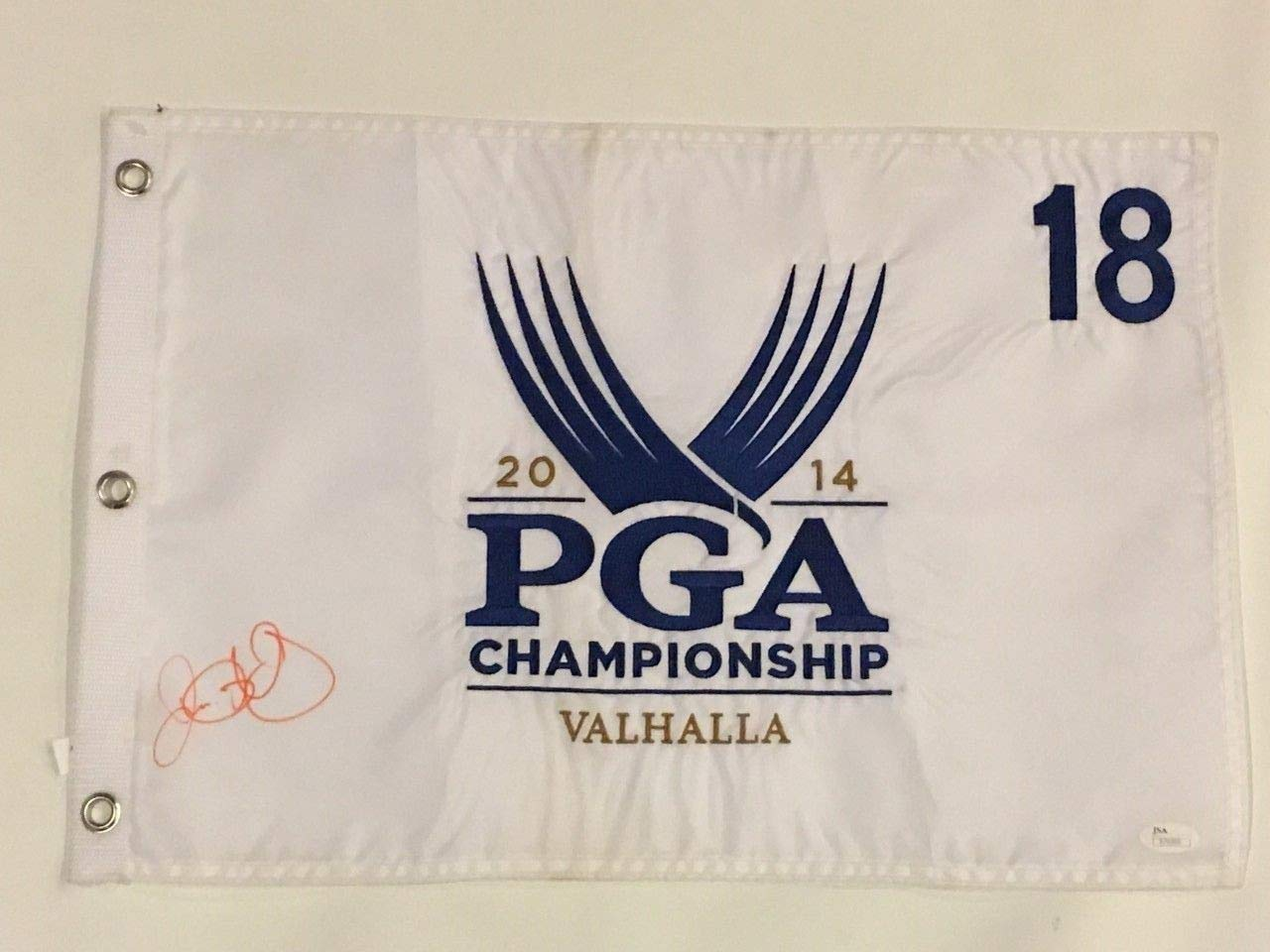 Rory Mcilroy Autographed Signed 2014 Pga Championship Pin Flag Valhalla JSA Authentic