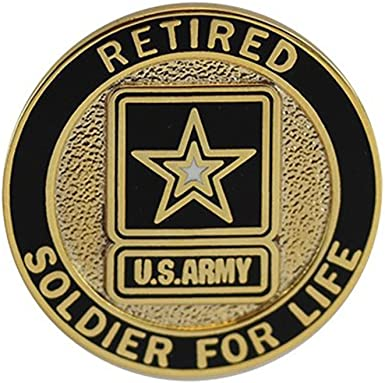 Soldier For Life Army Retired Lapel Pin